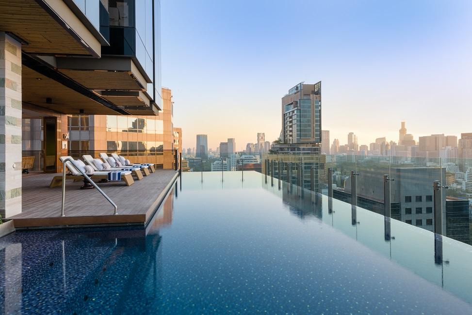 Hotel Indigo Bangkok Wireless Road Pool View 2 Wide Angle