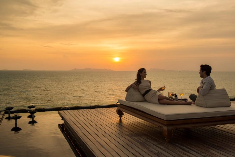 IC Samui Baan Taling Ngam Resort - View of Sunset