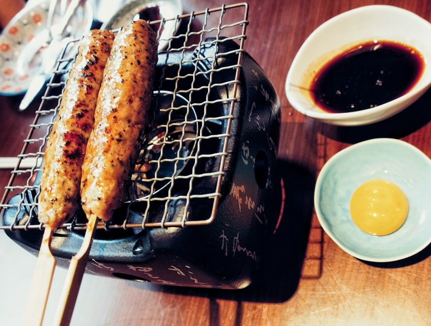 places-to-eat-in-bangkok-modern-japanese-cuisine-at-kom-ba-wa-Tsukune-grilled-organic-chicken-with-summer-black-truffle.jpg