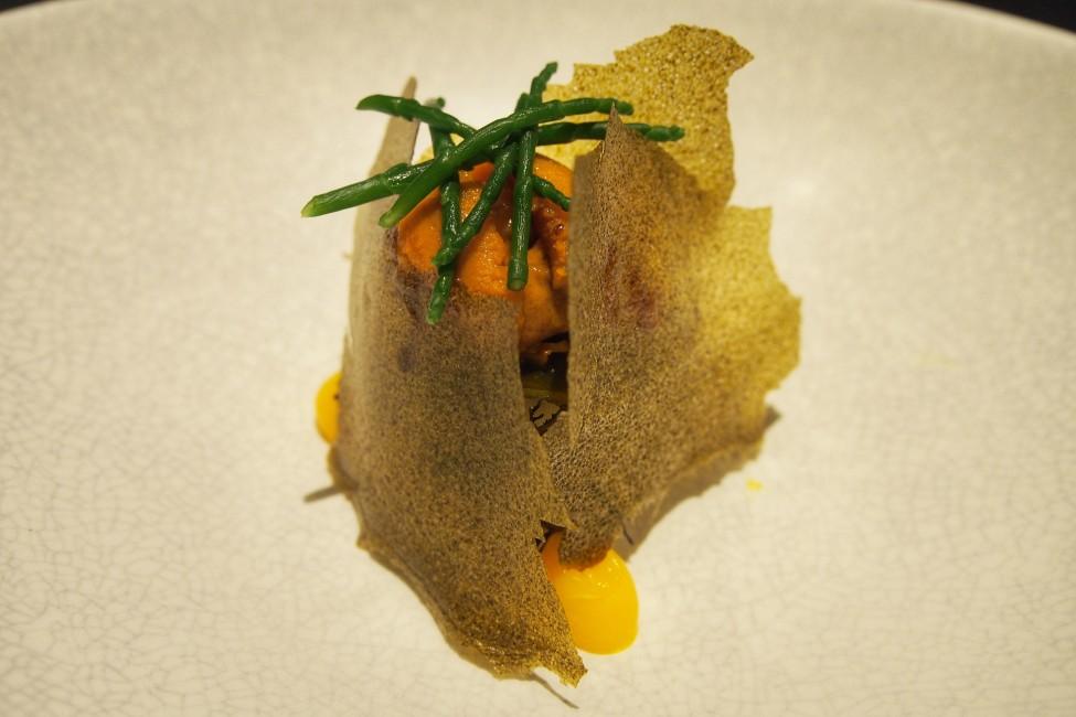 meta-keong-saik-road-classic-french-food-with-a-modern-korean-twist-Sea Urchin-Bibimbap-Kimchi-Seaweed