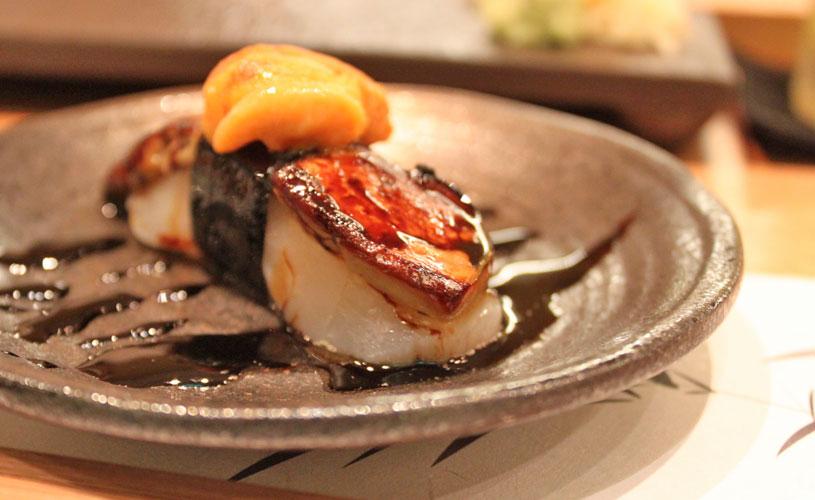 sushi-jin-les-amis-omakase-menu-trio-of-foie-gras-scallop-uni