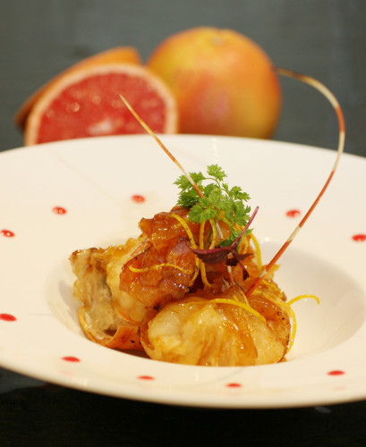 Sautéed Lobster with Lemon and Pomelo Glaze