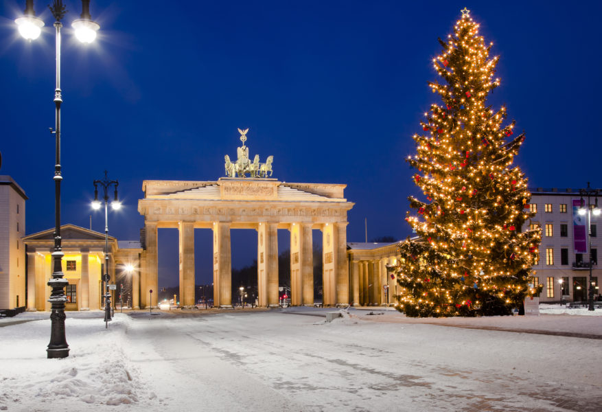 Brandenburg Gate at Christmas, Berlin