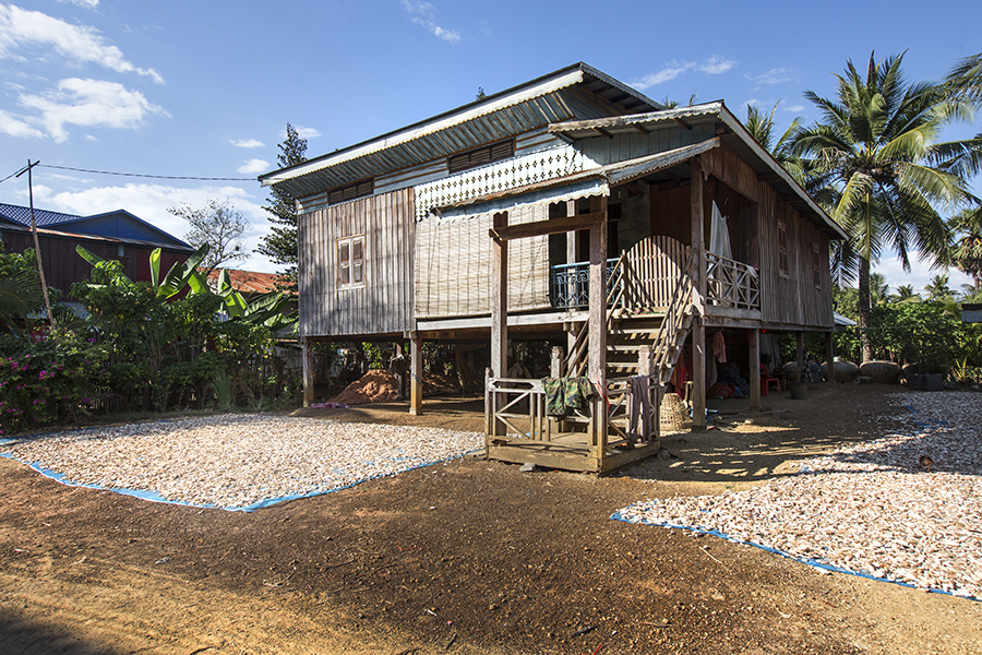 Houses in rural Cambodia