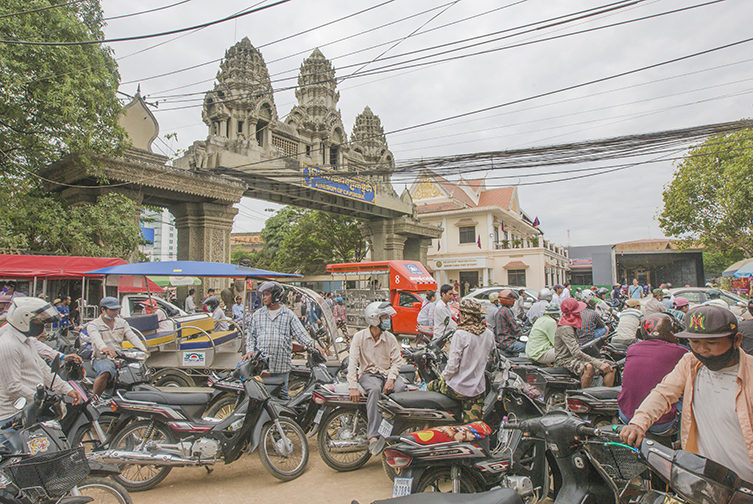 Border crossing in Poipet, Cambodia