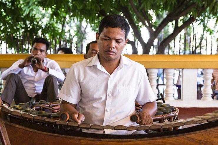 Musician in Siem Reap, Cambodia