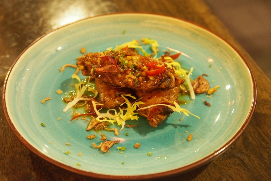 The mapo chicken wings (S$14) is a special starter where the..